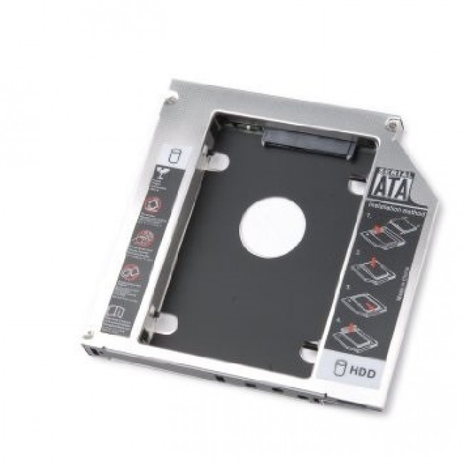 HDD/SSD caddy voor notebooks - 9.5mm hoog