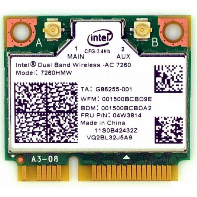 Intel mini-PCIe sata kaart dual band wifi b/g/n/AC+bluetooth