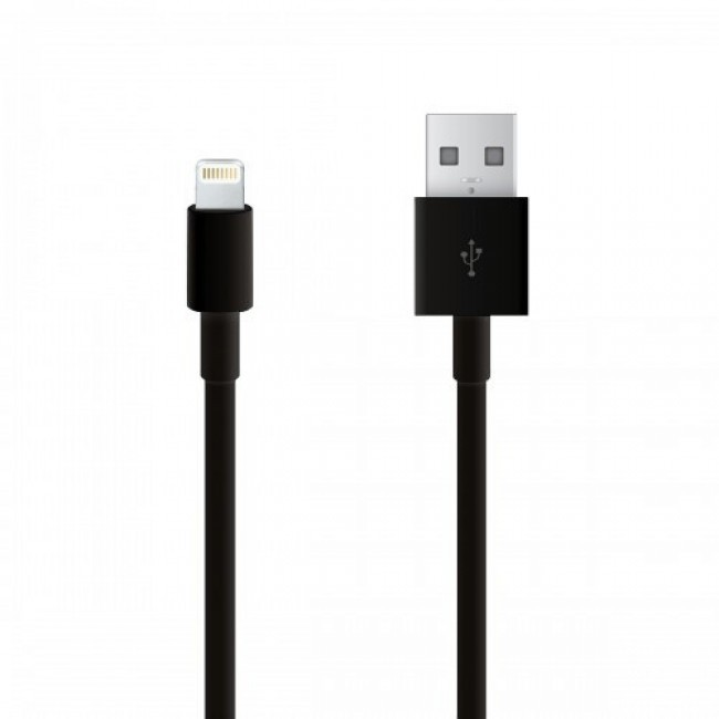Apple lightning kabel voor Iphone5+6/Ipod/Ipad - zwart
