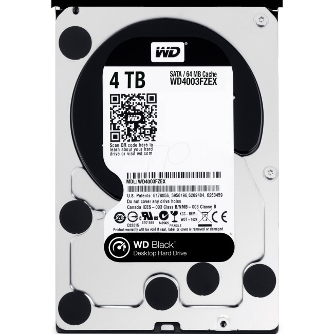 hdd 4TB sata3 WD 64MB Caviar Black 7200rpm