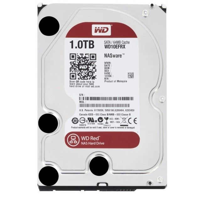hdd 1TB sata3 WD 64MB Caviar Red - voor NAS