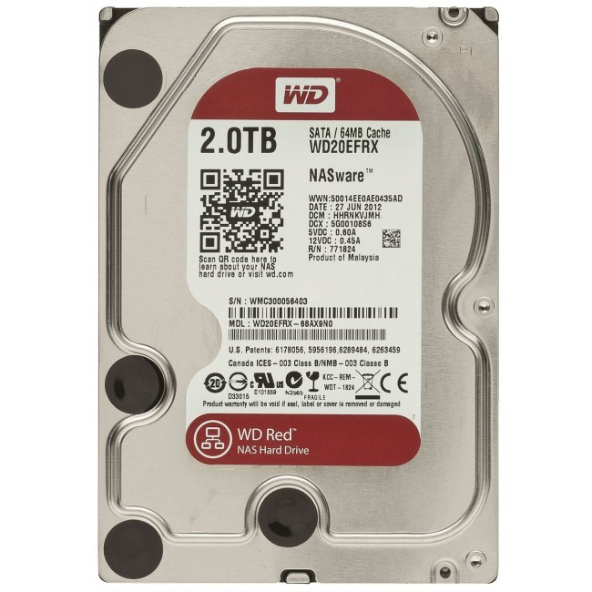 hdd 2TB sata3 WD 64MB Caviar Red - voor NAS