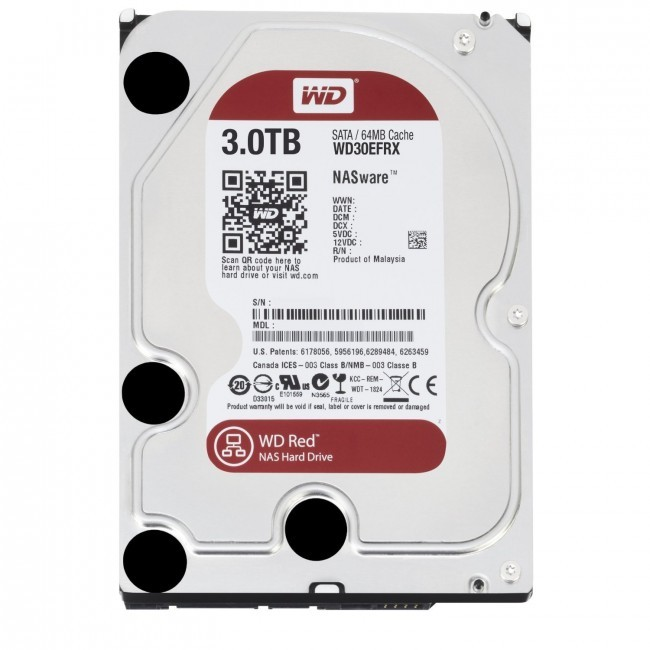 hdd 3TB sata3 WD 64MB Caviar Red - voor NAS