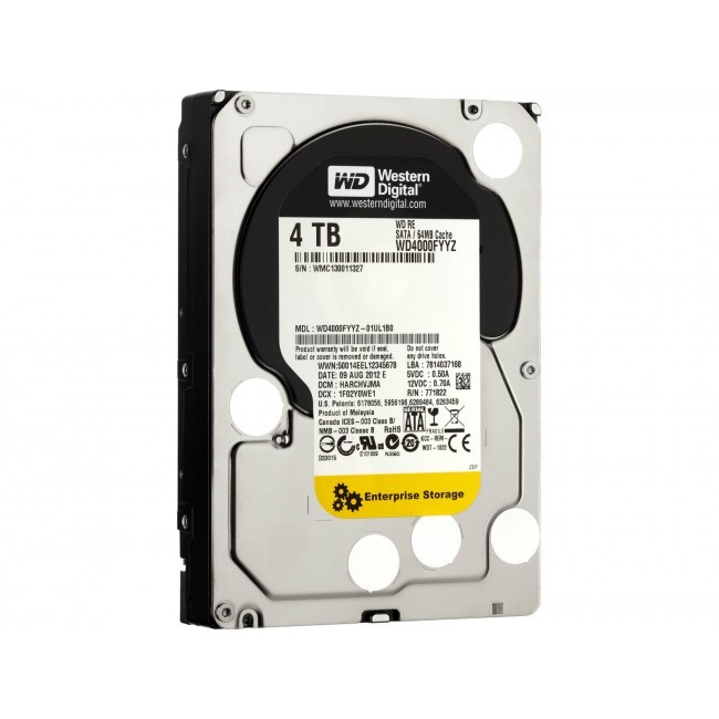 hdd 4TB sata3 WD-Gold 128MB 7200rpm (server-hdd 24/7)