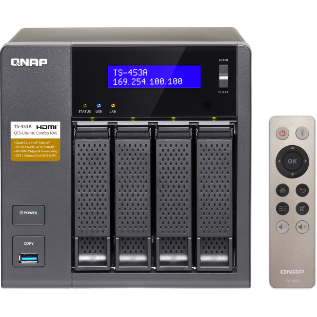 QNAP NAS TS-453A - Intel quad/4GB/4x hdd bay